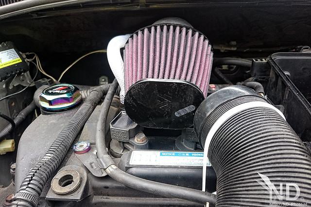 Toyota Aygo K&N 57i Kit closeup