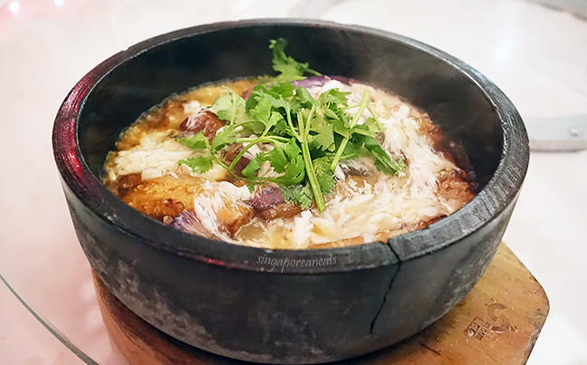 04 Stewed Egg Plant with Crabmeat in Claypot