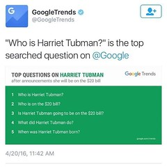 #WatchtheArchive: Tubman on April 20, 2016 http://ift.tt/27DmMAp May 19, 2016 at 08:59AM