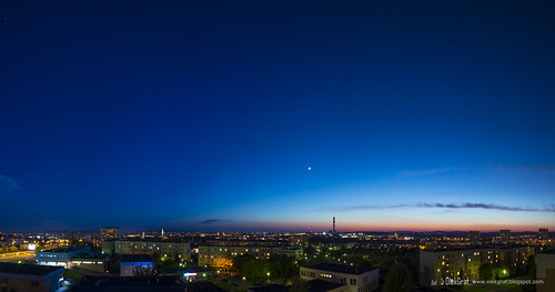 city blue sunset sky moon colors night clouds nikon colorful afternoon poland manfrotto olek kielce d3200 nikonflickraward olekgraf
