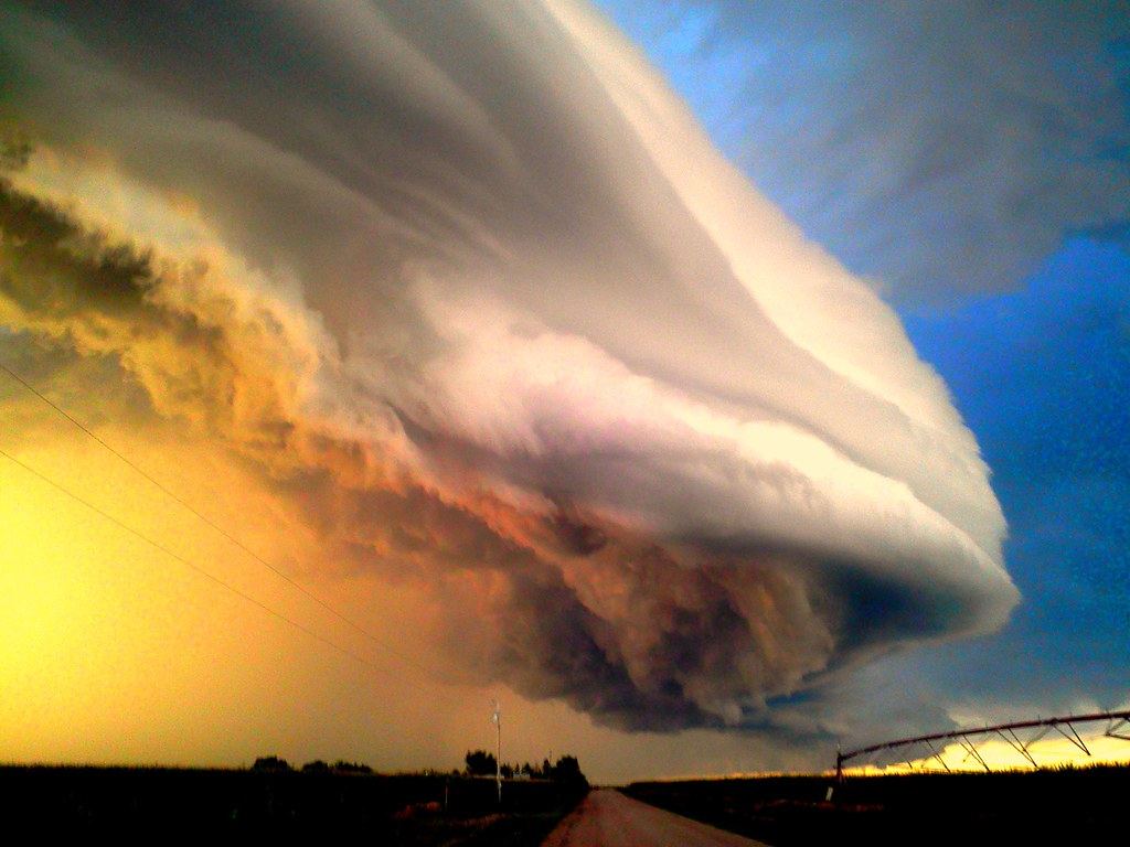 080711 Nebraska Supercell / Arcus / Shelf Cloud!