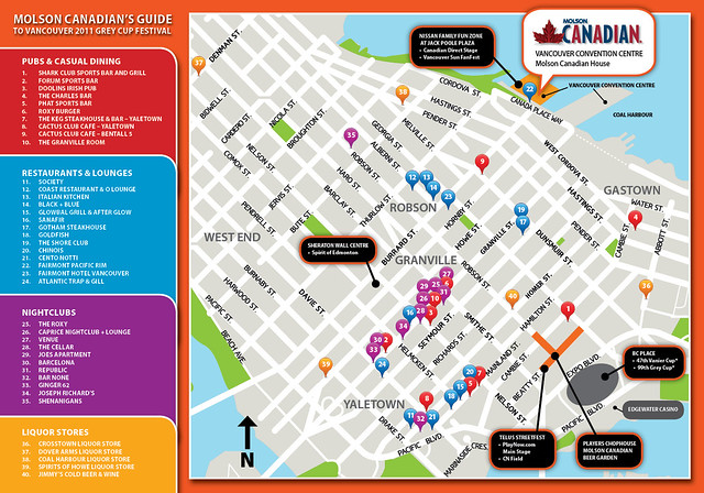 Grey Cup Festival Map