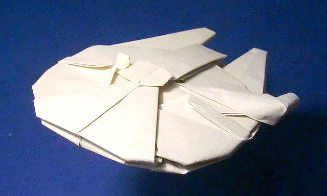millennium falcon origami flickr photo sharing