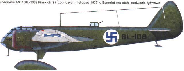 Bristol 142M Blenheim Finland 1937