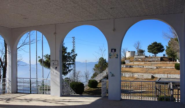 Neela Butt elevation 1750m hill top monument near Dhirkot, AJK, Kashmir