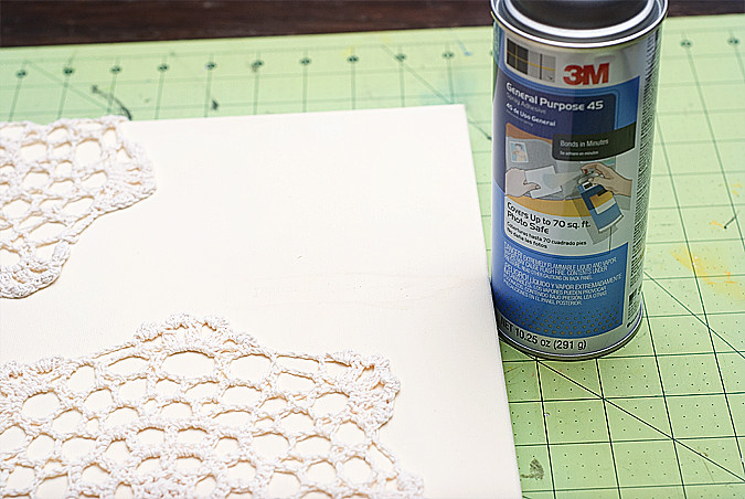 doily canvas step 2