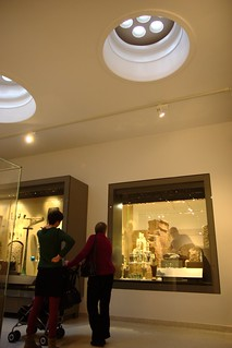 Skylights in the new Egypt gallery at the Ashmolean Museum