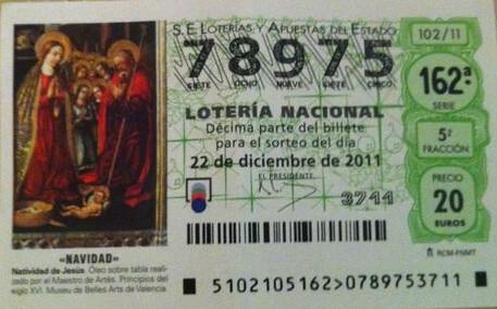 Décimo de loteria de navidad 2011 promoción Cestic.es