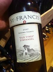 2007 St. Francis Old Vines Zinfandel