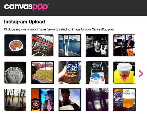 CanvasPop | Instagram | Step 2 - Choose an Image