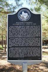 Photo of William Gammell black plaque