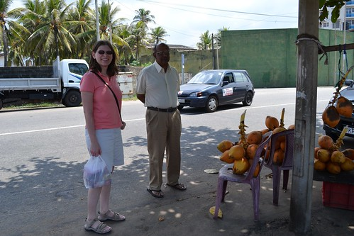 Roadside stop for fresh coconut water!