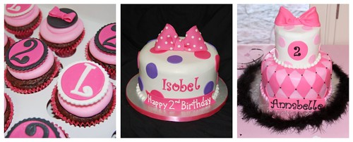 Cakes and Cupcakes for Minnie Mouse Birthday Parties