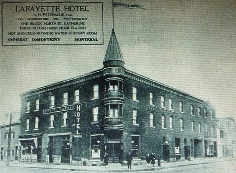 Montréal, vers 1915-1920. Rue Amherst.