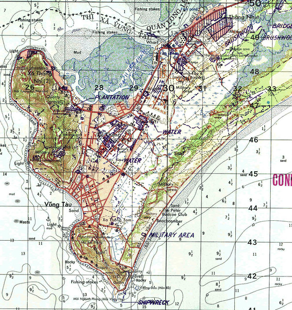 Bản đồ Vũng Tàu trước 1975