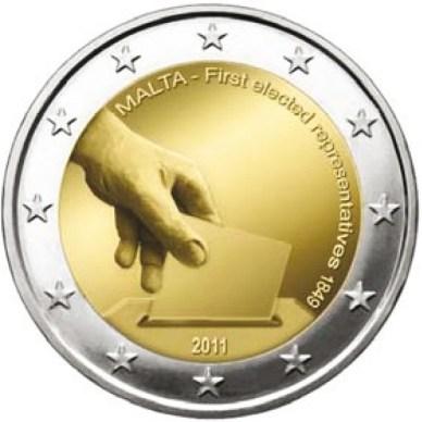 *2 Euro Malta 2011, Ústavné dejiny – prvé voľby zastupiteľov v roku 1849