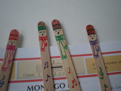 Kids singing-bookmarks