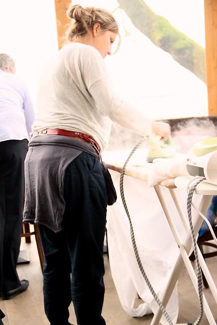 Dampfend bügeln