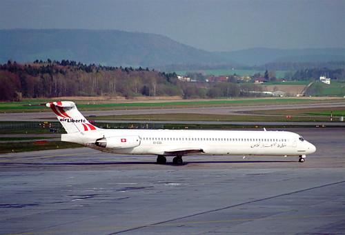 Air Liberté Tunisie MD-83; EI-CGI@ZRH;08.04.1995