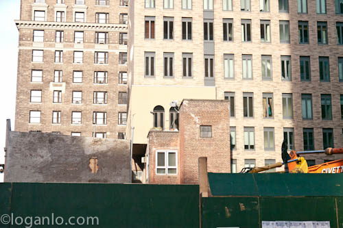Building being torn down in the UWS, NYC