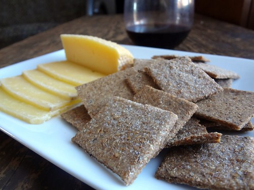 2011.12_local cheese and homemade crackers