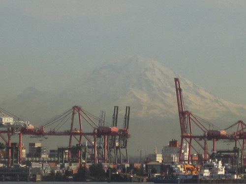 A view of Mt. Rainier from the Ferry