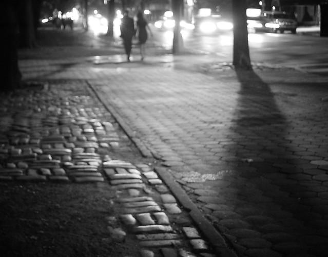 Central Park East - Cobblestone Sidewalk - Upper East Side - New York City