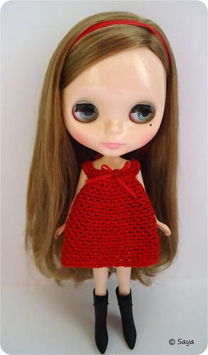 Tami con vestido crochet rojo by tatadelacasa