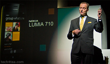 Niklas Savander, Executive Vice President, Markets, Nokia Corporation flew in from Finland to expound the virtues of the Lumia product line in Singapore.