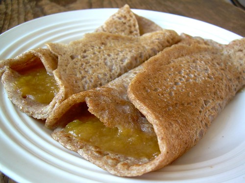 2011.12_whole wheat crepes with peach butter
