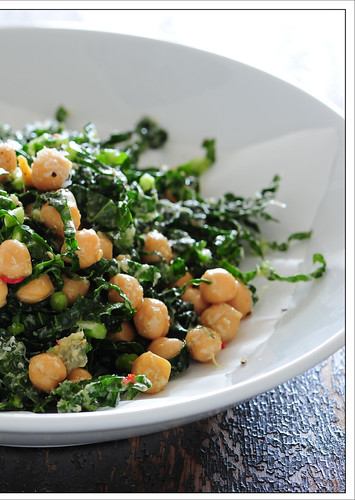 green chickpea salad3