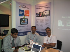 L To R Ankur, Porus, Shashank at the Clarice demo stall