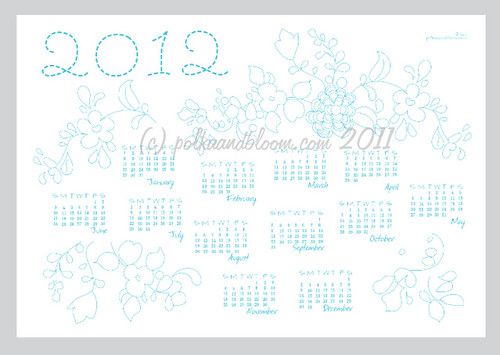 Blue Calendar Preview