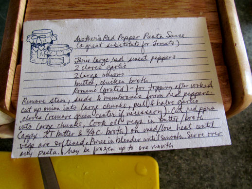 Mom's Red Pepper Sauce Recipe