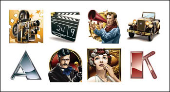 free Silent Screen slot game symbols