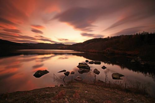 Loch  A'Chlachain Sunset. by gordie broon.