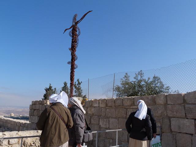Monjas en el Monte Nebo de Jordania