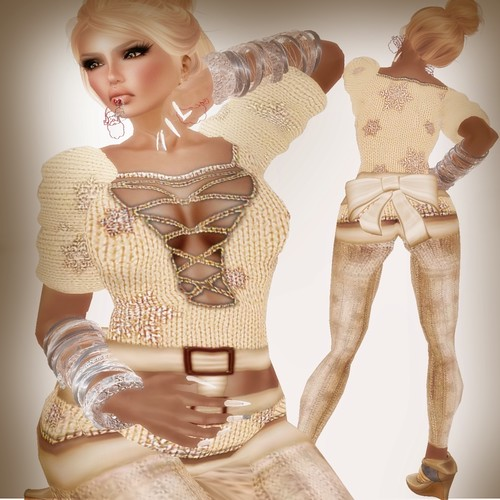 A&A Fashion Snowflake Sweater Cream