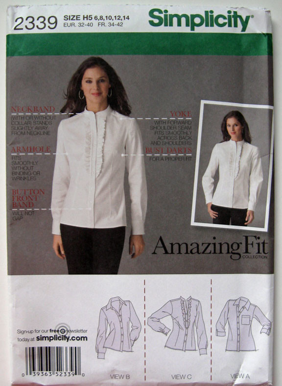 Blue silk blouse pattern S2339