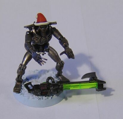 The Fourth Christmas Themed Necron Warrior I Made in 2011.