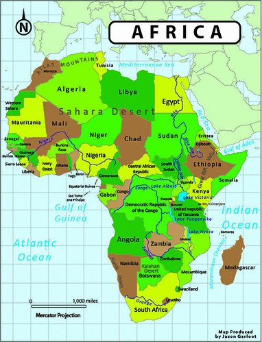 Reference Map of Africa | garfootmaps