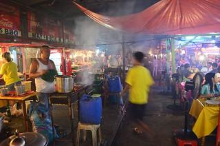 Larsian BBQ station food in Cebu City in Philippines