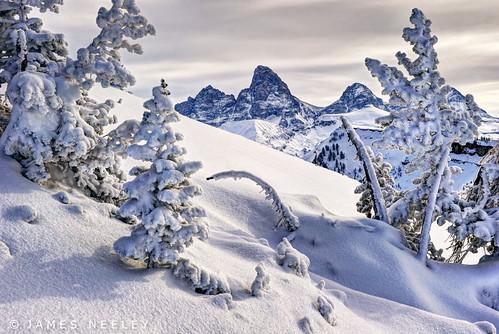 mountains landscape wyoming grandtetons tetons hdr f12 winterlandscape grandtarghee 5xp jamesneeley flickr24