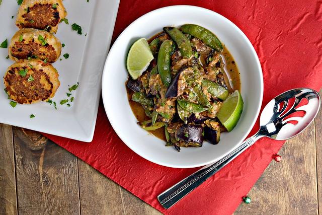 Thai Eggplant, Thai Snap Peas