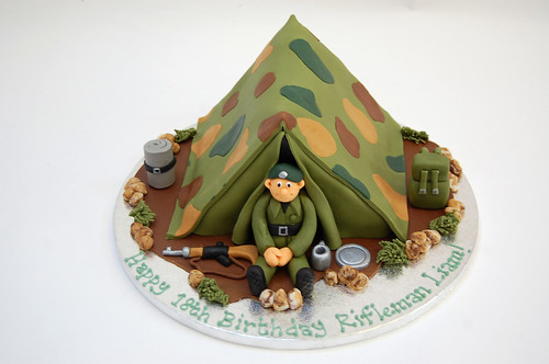 Astounding Army Rifles Cake Beautiful Birthday Cakes Personalised Birthday Cards Rectzonderlifede
