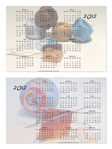 Crochet Knitting Calendar 2012