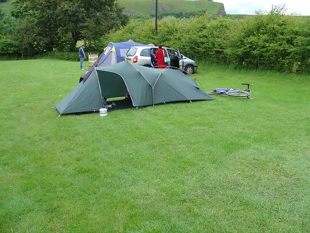 Post a Photo of your Tent In Use (with bike preferred)