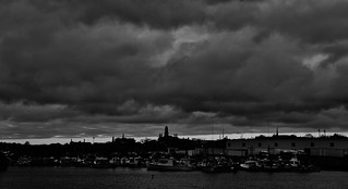 Ominous Skies Over Gloucester Harbor