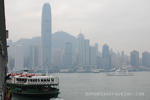 Star Ferry and view of Hong Kong