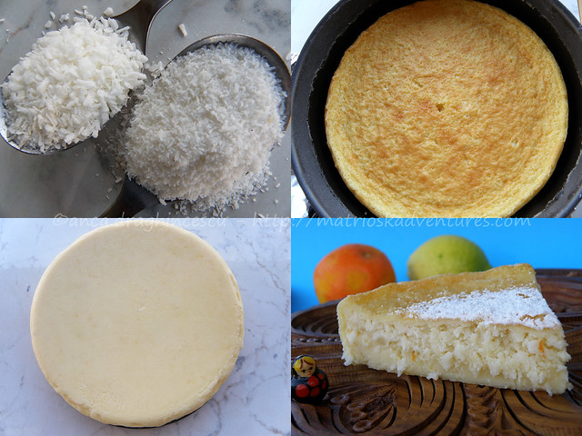 foto preparazione  torta cocco arance